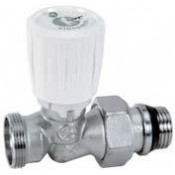 Micrometric straight valve with thermostatic option (R432X034) or new code (R432CX033) 1/2 x 18mm
