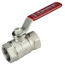 R250ZX005 Chrome Plated Ball Valve with coloured lever FxF 1 inch BSP