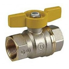 "Full Port Ball Valve with Yellow T-Handle Size 1"" (Item: R951X025)"