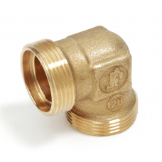 R561RY008  90 ° curved brass fitting, Base 18. Giacomini - Pack of 5