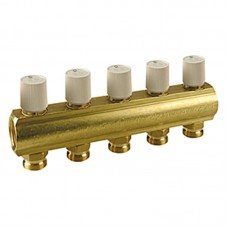 R553VY00X Manifold Bar with valves (assembled) - 2 to 12 Ports available (from £25 - £139 + VAT)