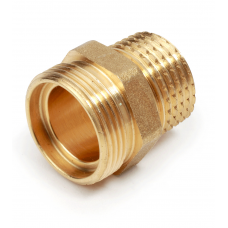 "R180RY021 3/4"" x 18mm Straight Fitting Adaptor M x M, Brass Finish"